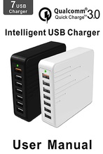 Buy Universal 36W 7 Ports USB Charger iPhone Samsung Huawei Qualcomm Quick Charge 3.0 Home Travel Wall Charger Charger Port for $15.66 in AliExpress store