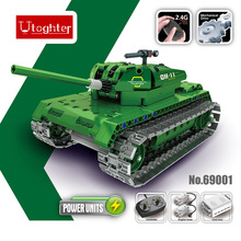 453Pcs Utoghter 69001 2.4G RC Battle Tank Building Blocks Kits Toy Bricks Car Model DIY Toys Remote Control Tank(China)