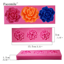 3D Rose Flower Fondant Silicone Mold Cake Decorating Candy Craft Tool Soap candy chcoclate DIY Mold Cutter Modelling Tools 50-83(China)
