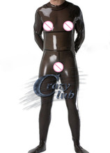 Buy Rubber Fetish Uniform Latex Fetish Transparent Black Latex Catsuit Sexy Fetish Rubber Club Bodysuits Costume Men Sale line