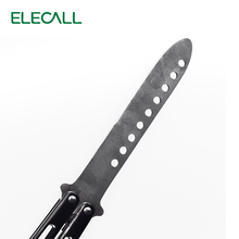 ELECALL butterfly Knife butterfly trainer balisong butterfly knife training tool folding knife not sharp fade black color