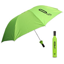 2017 Creative high quality Modern Design Umbrella women Wine Bottles Folding Sun & Rain Umbrella Green Polyester Fabric 350g(China)