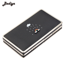 Fashion Cute Women Wallets Long PU Leather Phone Bag Purse Cases Rainbow Pattern Feminina Carteira Walet with Cards Holders