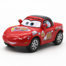 Mini Pixar Cars Movie Classical Red NO.95 Fans Mia Diecast McQueen Metal Toy Car 1:55 Loose  Alloy Model Car Toy