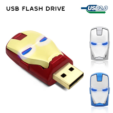 metal usb flash drive 4gb 8gb pendrive 16gb flash drives 32 gb usb memory stick 64gb usb flash drive Iron man pendrive(China)