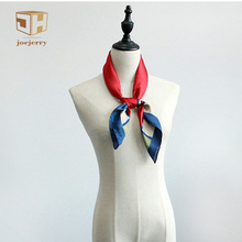 "joejerry 28""*28"" Mini Scarf Women Summer Spring Plaid Mini Square Silk Satin Scarf Fashion 2017 Office Lady Small Bandana(China)"