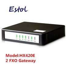 Newrock Cheap 2 FXO SIP VoIP Gateway,easy configure analog VoIP adapter.Elastix compatible,Mitel certificated ATA