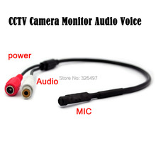 20PCS/lot Mini CCTV MIC Microphone Voice Audio for Security Camera Audio Surveillance DVR, CCTV Mic Audio Cable Receiver