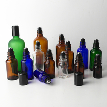 Newest 2pcs/lot Refillable Essential Oils Glass Bottles With Metal Roller For Travel Glass Fragrance Container Wholesales