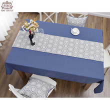 Chinese Dining Table Runners Paisley Plaid Striped Table Cloth Cotton Linen Patio Outdoor Picnic Table Cloth Orange Blue Tree(China)