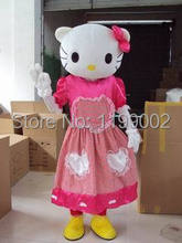 POLE STAR MASCOT COSTUMES red dress hello kitty mascot costume cartoon hello kitty costumes free shipping