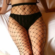 Sexy Lingerie Women Ladies Thigh High Black Mesh Fishnet Tights Pantyhose Hosiery Women(China)