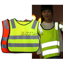 Safety Hi Vis Children Waistcoat Vest Grey Reflective Strips Traffic Clothes(China)