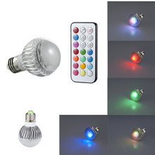 8W 4W RGB LED Bulb Light E27 MR16 GU10 Remote Controlled Memory Function Colour Changing LED Holiday lights(China)