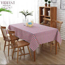 1 Piece  Colorful Modern Simple Table Cloth stripe Table Cover Rectangular Tablecloth Wedding Decoration manteles para mesa