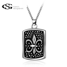 GS Stunning Men's Necklace Stainless Steel Tag Pendant Choker for Men Vintage Gothic Bike Jewelry