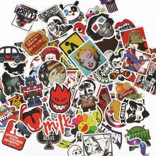 100Pcs Anime Stickers For Notebook Scrapboking Stikers for Children Car-Styling Laptop Suitcase Mixed
