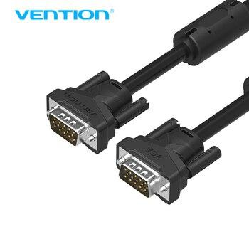 Vention VGA к VGA Кабеля Мужчина к Мужчине Черный Оплеткой Высокого Премиум HDTV VGA Кабель-Адаптер
