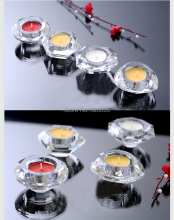Free shipping 4 pcs/lot graceful shinning crystal diamond shape tea light candle holder Christmas crystal candle holder
