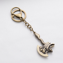 Punk Vintage Hatchet Shape Novelty Jewelry Keychain Ax Key Chain Ring Holder For Men Bag Charm Pendant Car Keyring Gift FY013