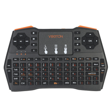 VIBOTON I8plus Handheld 2.4G Multimedia Mini Wireless Keyboard with Touchpad Mouse Remote Control for Windows PC Android TV Box