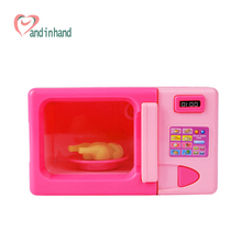 Kitchen Toys Miniature Microwave Children Kitchen Sets Classic Pretend Play Plastic Girl Gift Playing Games Educational Toys