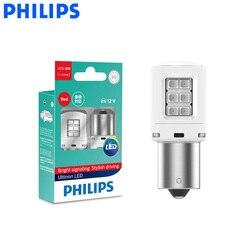 Philips светодиодный P21W S25 Ultinon светодиодный красного цвета автомобиля поворотные сигнальные индикаторы противотуманная фара фонарь заднего х...