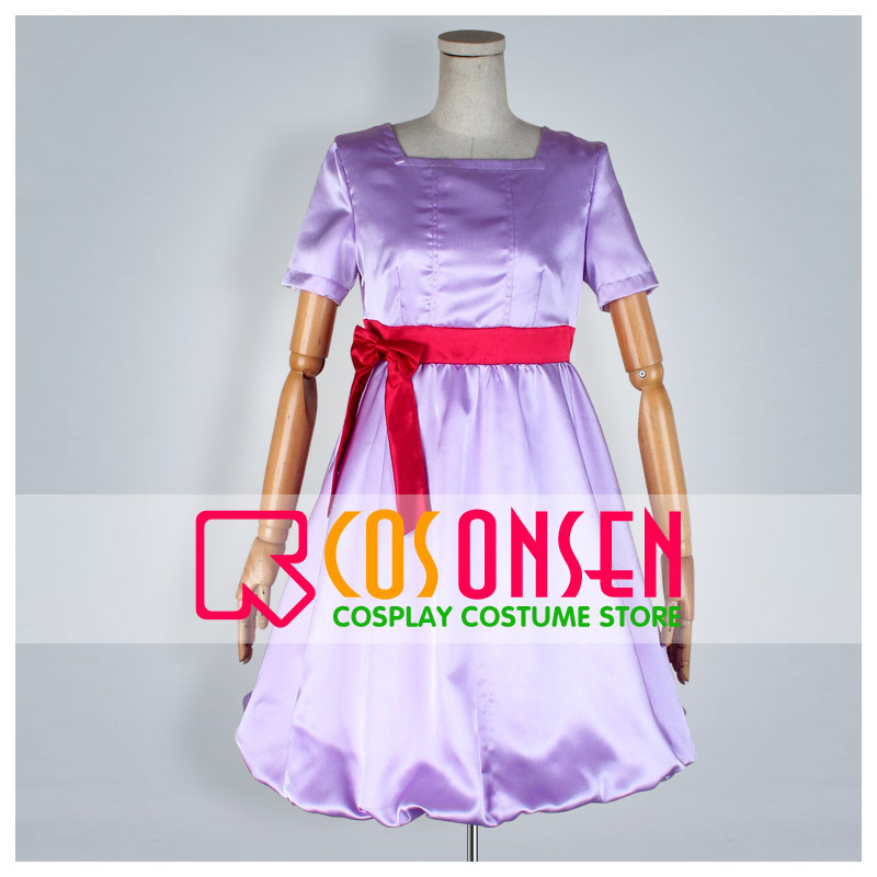 COSPLAYONSEN Karneval ERISHUKA Purple Dress Cosplay Costume All Size Custom Made