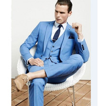 Men's clothing from wearing men's suit suit Men's new light tailoring two business groom dress from budding dinner