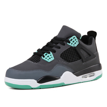 2017 authentic Jordan retro  4 mens shoes comfortable breathable running  Shoe sports walking black trainers sneakers 40-44