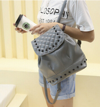 2016 spring new handbag European and American pop rivets shoulder bag tide packet street  bag