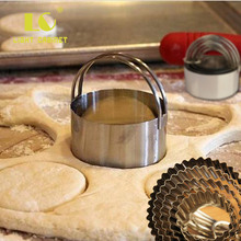 5 Pcs/set Stainless Steel Cookie Cutters Set Circle/Flower Biscuit Mold Baking Tools Sturdy Handle & Easy Storage