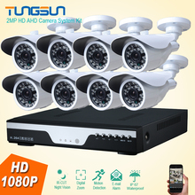 2MP HD 8 Channel 1080P Surveillance Camera System kit Home Metal Bullet Waterproof Outdoor 8CH DVR Security Camera System Kit