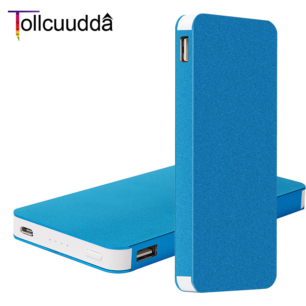 Tollccudda Portable Power bank 8000mAh Ultra Thin Metal PoverBank External Battery Pack 2 USB Charger For iPhone 6/6s All Phone(China (Mainland))