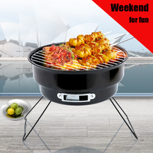 Outdoor mini bbq grill Stainless Steel Household Family Party Barbecue Brazier Charcoal Portable BBQ Cooking Tools For Camping(China)