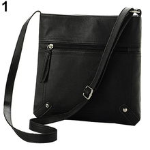 Women's Casual Simple Faux Leather Handbag Satchel Cross Body Bag Messgaer Bag