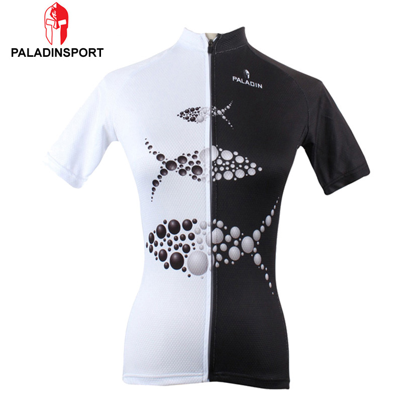 Paladin Fish Christmas Sport Jersey Women Cycling Bicycle Mountain Bike Clothing Jersey Short Sleeve Creative Design(China (Mainland))