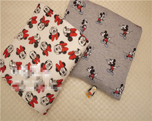 50*160cm minnie mickey Thicker warmer knitted fleece fabric For Sewing Fat Patchwork baby boy quilt blanket shirt pajamas Cloth
