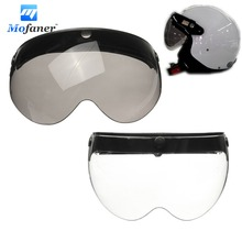 Universal Front Flip Up Visor Wind Shield Lens For Open Face Motorcycle Helmets(China)