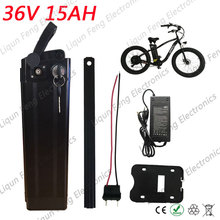 Free Duty Bottom Discharge Port 500W 36V Scooter Electric Bike Battery 36V 15AH Lithium Battery Pack with 42V 2A Charger and BMS(China)