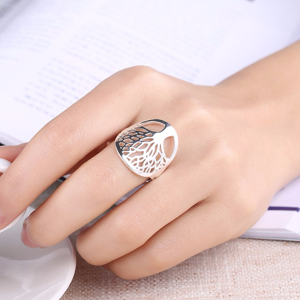 Tree-of-Life-Classic-Accessories-925-Sterling-Silver-Rings-For-Women-New-R891