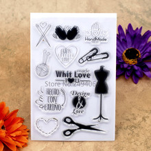Hand Made IDEAS Design and Love Scrapbook DIY photo cards account rubber stamp clear stamp transparent stamp 10x15cm KW7041830