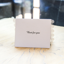 Blank Thank You Laser Cut Wedding Invitation RSVP Cards Small Love Message Gift Cards Postcards Birthday Cards with Envelope(China)