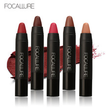 FOCALLURE High Quality 19 Colors Waterproof Lipstick Long Lasting Lip stick Easy to Wear Cosmetic Nude Makeup Lips(China)