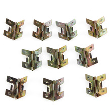 10pcs Metal Decorative Bronze Mini Spring Hinges Replacement For Jewelry Box