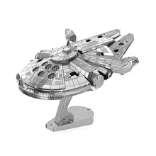 Free Shipping 2016 Hot Sale puzzle toys Star Wars Model Building 3D Scale Models DIY Metallic Nano Puzzle Toys millennium falcon(China)