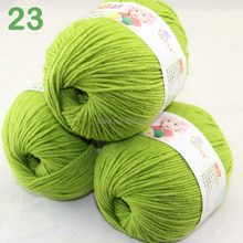 Sale Lot of 3 balls x 50g  60% Cotton Milk protein Velvet Hand knitting Beach Grass 7423