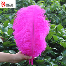 Wholesale. 50pcs nature mei red ostrich feathers40-45cm/16-18inches ostrich plumage Wedding Centerpieces free shopping(China)