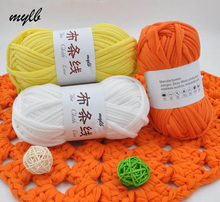 mylb 100g/pc 30M Fancy Yarn for Knitting Thick Thread Crochet Candy-colored Cloth Yarns Ribbon Hand Knit Wool Hat Yarn Craft(China)