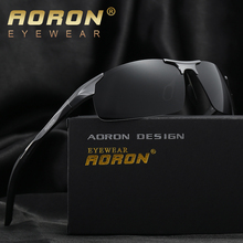 AORON Male Brand Polarized Sunglasse Men Classic Design Police Sun Glasses HD Driving Accessories Night Goggles Oculos de sol